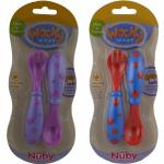 Nuby Wacky Ware Starter Fork and Spoon Set