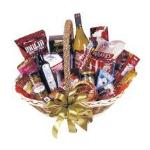 TF7160 - Gourmet Basket incl Wine Large Gourmet Basket incl Chips, Biscuits, Nuts, Chocolates, Olives, Dips, Cheeses, Coffee etc