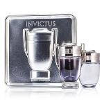 Paco Rabanne Invictus Coffret: Eau De Toilette Spray 100ml/ 3.4oz + After Shave Lotion 100ml/3.4oz 2pcs Men\'s Fragrance