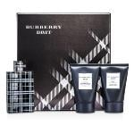 Burberry Brit Coffret: Eau De Toilette Spray 100ml/3.3oz + Body Cleansing Gel 100ml/3.3oz + After Shave Balm 100ml/3.3oz