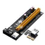 Gracefulvara USB 3.0 PCI-E Express 1x To 16x Extender Riser Card Adapter Power Cable Mining