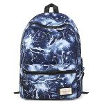 HotStyle Lightning Pattern Vintage Style Unisex Fashion Casual School Travel Laptop Backpack Rucksack Daypack Tablet Bags (Blue)(Export)(Intl)