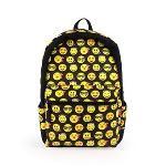 Unisex Emoji Printed Backpack Multicolor Boys Girls Smiling Travel School Bag (EXPORT)