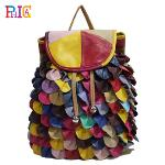 Huolala New 2015 Fashion Women Bags Women Backpack Genuine Leather Bags Travel School Backpacks in Stock-PH76 colorful