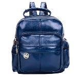 Fanco Lightweight PU Laptop Backpack Cute School Bag (Blue)(Export) - Intl