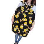 Cartoon Printing Canvas Travel Backpack School Rucksack Bag Yellow - Intl