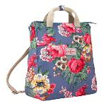 Cath Kidston Matt Oilcloth Multi Strap Backpack Crossbody Bag Bloomsbury Bouquet Blue(Export)- Intl