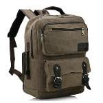 Bluesky Laptop Backpack, Vintage Men Casual Canvas Backpack Rucksack Bookbag Hiking Bag(Coffee)