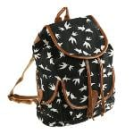 Black Women Canvas Travel Rucksack Hobo Schoolbag Satchel Bookbag Backpack(Export) - Intl