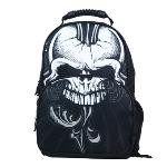 Niceeshop Girls Boys Laptop Backpack School Bag Travel Daypack Handbag 3D Skull Crossbone Print Fits Most 13 Inch Laptop(Black) - Intl