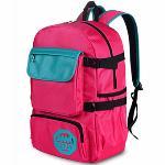 Leisure Travel Backpack Female Back Bag Laptop Bag(Red&Green) - Intl