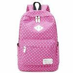 Lightweight Casual Daypack Backpack for College Bookbag for Women Girls School Bags Female College Students Storm Dot Schoolbag (Pink)