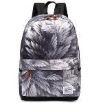 Leaper Cool Style School Backpacks Laptop Backpack Should Bag Travel Bag(Feather)(Export)