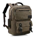 Bluesky Laptop Backpack, Vintage Men Casual Canvas Backpack Rucksack Bookbag Hiking Bag(Coffee)(Intl)