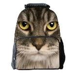 Eozy Cute Cat Backpacks School Satchels Students Men Women School Korean Style Bags Animal Travel Outdoor Pack Bag(Multicolor) (EXPORT) (Intl)