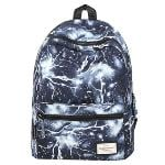 HotStyle Lightning Pattern Vintage Style Unisex Fashion Casual School Travel Laptop Backpack Rucksack Daypack Tablet Bags (Black)(Export)(Intl)