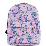 Girl\'s Lovely Roses Pattern Canvas Laptop Bag Rucksack (Pink)(Export)(Intl)