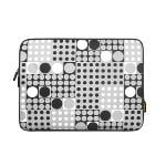 Portable Soft Waterproof Laptop Bag 15.6 inch (White/Black)