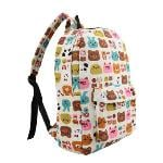 Fashion Men Women Backpack Cartoon Letter Print Schoolbag Satchel Travel Bag 1#