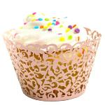 Buytra Lace Cupcake Wrapper Liner Baking Cup Laser Cut Pink (EXPORT)