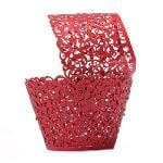 Jetting Buy Lace Cupcake Wrapper Set of 50 Red (EXPORT)