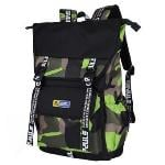 Sinpaid HB-25 Casual Style Backpack 15.6\'\' Laptops Backpack Waterproof Oxford Cloth Backpack Green