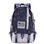 2016 KAUKKO Canvas School Bag Cute Back to School Backpacks with Laptop Compartment (Baby Blue)(Export) - Intl