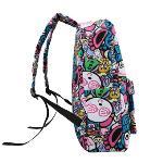 Fashion Men Women Backpack Cartoon Letter Print Schoolbag Satchel Travel Bag 7#