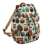 OWL Women Canvas Travel Rucksack Hobo Schoolbag Satchel Bookbag Backpack(Export) - Intl