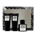 Vintage Black Coffret: Eau De Toilette Spray 100ml/3.4oz + Hair & Body Wash 100ml/3.4oz + After Shave Balm 100ml/3.4oz 3pcs