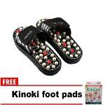 Keimav Quality Foot Reflex Massage Slipper White FREE Kinoki