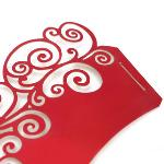 Pearly Cloud Filigree Vine Cupcake Wrappers Wrap Case Set of 12 (Red)(Export)