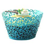 Jetting Buy Lace Cupcake Wrapper Set of 50 Blue (EXPORT)
