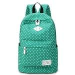 Lightweight Casual Daypack Backpack for College Bookbag for Women Girls School Bags Female College Students Storm Dot Schoolbag (Green)