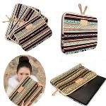 Bohemian Canvas Laptop Bag For Macbook Air Pro Dell Cover 15.6(Export)(Intl)
