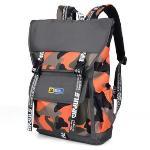 Sinpaid HB-25 Casual Style Backpack 15.6\'\' Laptops Backpack Waterproof Oxford Cloth Backpack Orange