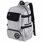 Leisure Travel Backpack Female Back Bag Laptop Bag (Grey&Black) - Intl