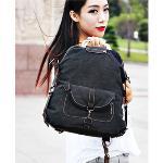 Huolala New arrival 2015 vintage bags men backpack women rucksack canvas laptop backpacks casual school bag fashion mochila wholesale-Purple (Intl)