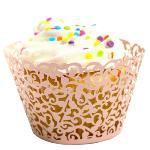 Jetting Buy Lace Cupcake Wrapper Set of 50 Pink (EXPORT)