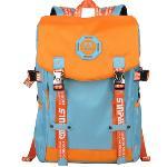Huolala SINPAID Korean Style Laptop Backpack (Blue and Orange)(Export)