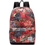 Leaper Cool Style School Backpacks Laptop Backpack Should Bag Travel Bag(Maple Leaf Red)(Export)