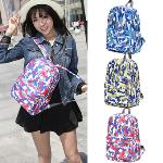 College Wind Multicolor Camouflage Backpack Blue
