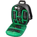 Tigernu New Upgraded Pattern DSLR Camera Bag Backpack, Upgraded Version + Green
