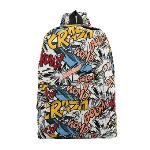 Fashion Men Women Backpack Cartoon Letter Print Schoolbag Satchel Travel Bag 4#