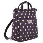 Cath Kidston Matt Oilcloth Multi Strap Backpack Unisex Crossbody Bag Button Spot Polka Grape(Export)