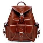 Women Vintage Multifunctional Leather Schoolbag Laptop Backpack Rucksack AL5088 brown