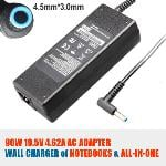 HP 65W AC Adapter 19.5V 3.33A (Adapter Only No Power Cord) Blue Small Plug with Pin