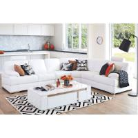 Sentra 6 Seater Corner Leather Lounge Suite By Synargy Lounge