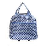 Rolling Duffle Bag (Blue Dots)