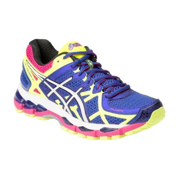 Asics Gel Kayano 21 - Womens Running Shoes - Blue/White/Flash Yellow